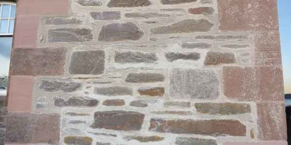 Detail of repointed stonework